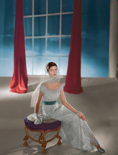 Horst P Horst Carmen DellOrefice Dress by Hattie Carnegie 1947