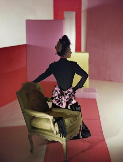 Horst P Horst Suit and Headdress by Schiaparelli 1947