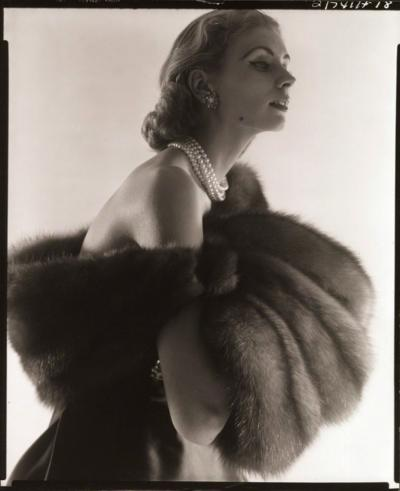 Horst P Horst Suzy Parker Fur Series for Vogue 1949