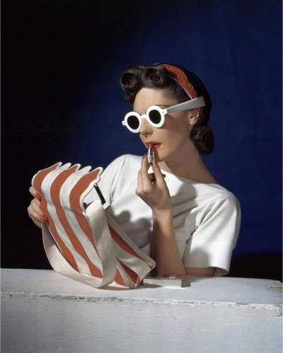 Horst p Horst Muriel Maxwell Ensemble by Sally Victor Bag by Paul Flato Sunglasses by