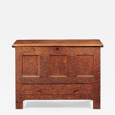 Hovey Wadsworth Family Carved Hadley Chest