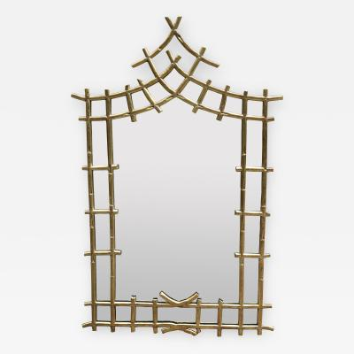 Howard Dilday Hollywood Regency Stylized Bamboo Mirror