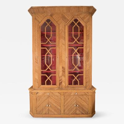 Howard Dilday Monumental Inlaid Bamboo Cabinet by Howard Dilday