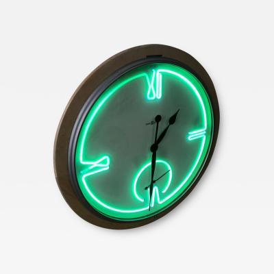 Howard Miller Postmodern Monumental Howard Miller Neon Wall Clock