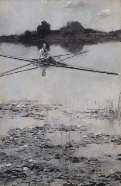 Howard Pyle The Professor in his Boat