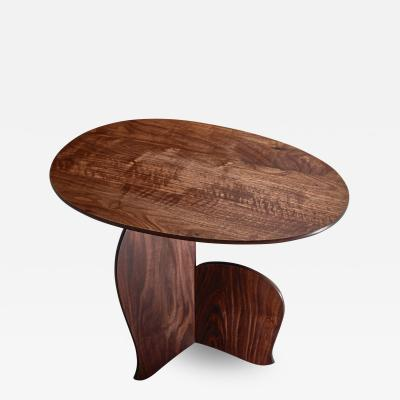 Hozan Zangana Nane Tiri side table in walnut by Hozan Zangana