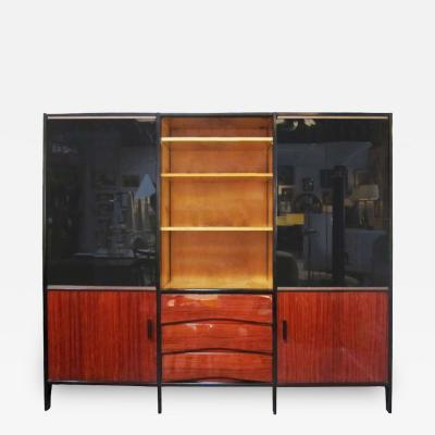 Huchers Minvielle Mid Century French Cabinet in Mahogany by Meubles Minvielle