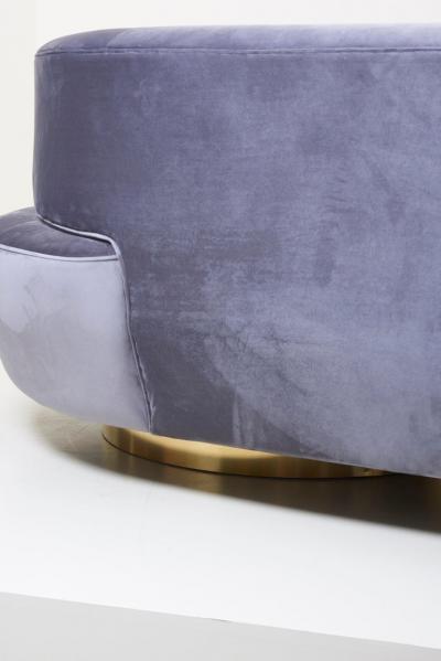 Huge Sculptural Cloud Serpentine Sofa in Grey Velvet