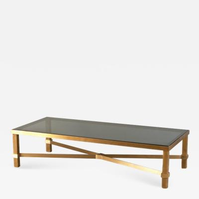 Huges solid brass coffee table