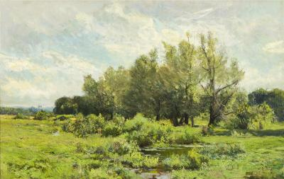 Hugh Bolton Jones Landscape in Spring