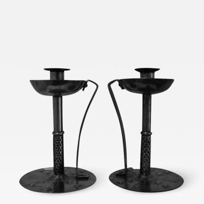 Hugo Berger Pair of candlesticks from the Vienna Secession by Hugo Berger 1900s