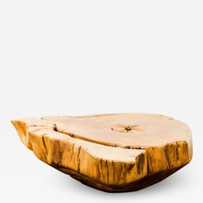 Hugo Franca Boti tuba Table in Upcycled Pequi solid Wood by Hugo Fran a