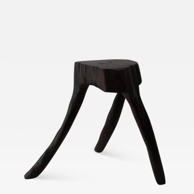 Hugo Franca One of a kind Piat Stool in wood by contemporary Brazilian designer Hugo Fran a