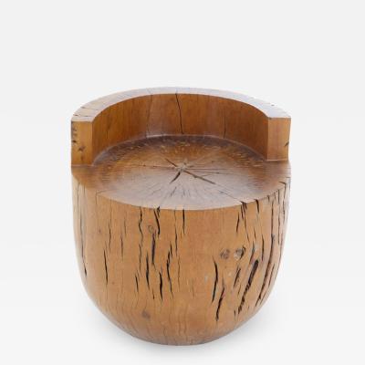 Hugo Franca Unique Contemporary Tambor Stool by Hugo Fran a in Pequi hardwood Brazil