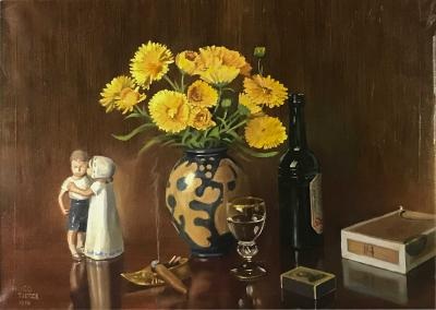 Hugo Tietze 1891 1962 Danish 1958 Still Life