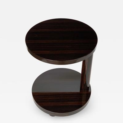 Hugues Chevalier Deco Style Macassar Ebony Adjustable Side Table by Hugues Chevalier