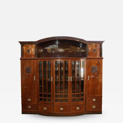 Hungarian Credenza or Bookcase in Palisander Wood from Art Deco period
