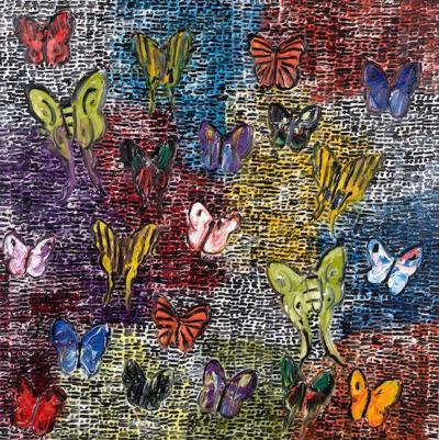 Hunt Slonem Guardians and Butterflies