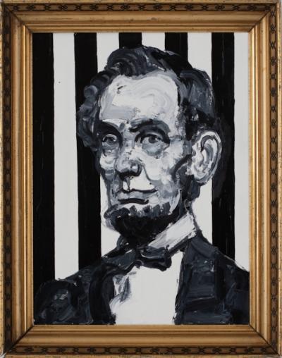 Hunt Slonem Striped President Lincoln EA01828