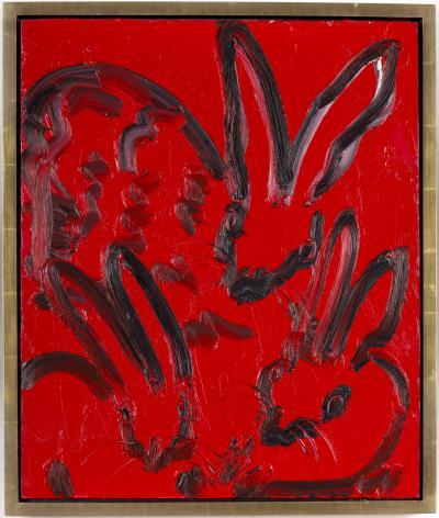 Hunt Slonem Untitled Bunnies CRK01695