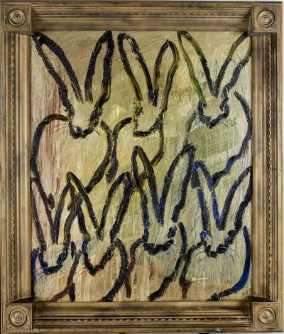 Hunt Slonem Untitled Bunnies CRK02059