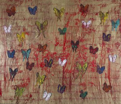 Hunt Slonem Untitled Butterflies CRK03285