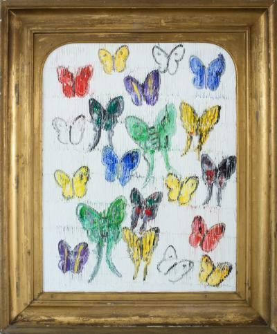 Hunt Slonem White Butterflies