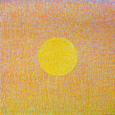 Hyun Ae Kang Abstract painting by Korean American artist Hyun Ae Kang High Noon 1