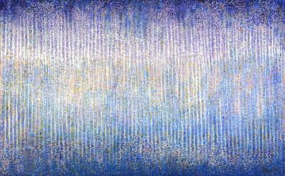 Hyun Ae Kang Abstract painting by Korean American artist Hyun Ae Kang Rain II