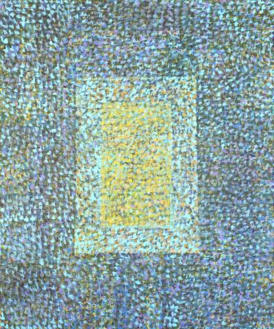 Hyun Ae Kang Abstract painting by Korean American artist Hyun Ae Kang Window to Heaven 2