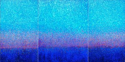 Hyun Ae Kang Monumental Triptych Abstract Painting by Hyun Ae Kang Winter Fall Trilogy