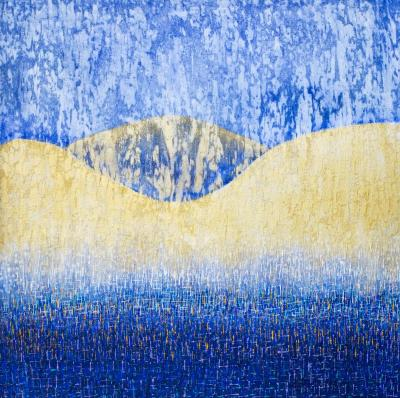 Hyun Ae Kang Unique abstract painting by Korean American artist Hyun Ae Kang
