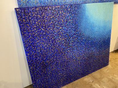 Hyunae Kang American Modern Abstract Mixed Media on Canvas Effulgence Duology Hyunae Kang