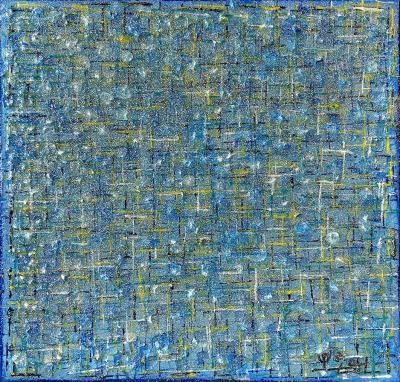 Hyunae Kang American abstract Painting SKY 09 by korean Born Artist Hyunae Kang