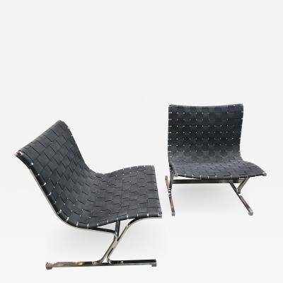 ICF De Padova Rare Pair of Ross Littel Luar Lounge Chairs for ICF De Padova Italy 1965