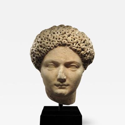 IMPORTANT ROMAN MARBLE PORTRAIT HEAD OF JULIA TITI