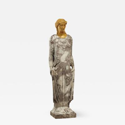 IMPORTANT ROMAN MARBLE STATUE OF A KORE