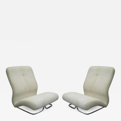 IPE Bologna Rare Pair of Italian Mid Century Modern Space Age Lounge Chairs by IPE
