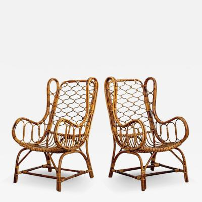 ITALIAN BAMBOO LADY CHAIRS