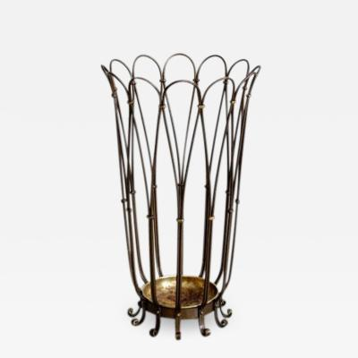 ITALIAN BRASS UMBRELLA STAND