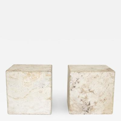 ITALIAN CREAM TRAVERTINE SIDE TABLES OR COFFEE TABLES