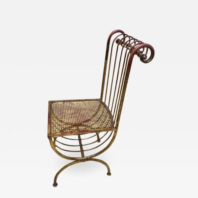 ITALIAN MID CENTURY FANCY GILT IRON CHAIR