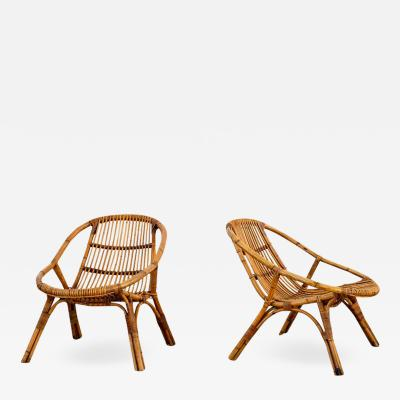 ITALIAN RATTAN AND BAMBOO CHAIRS