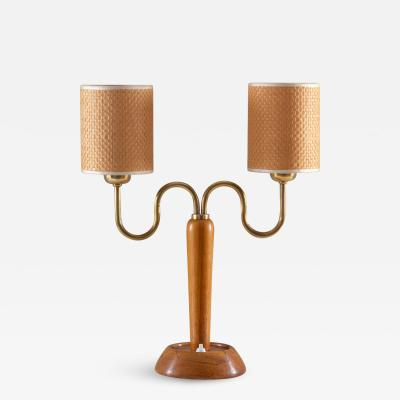IWO AB Swedish Midcentury Table Lamp by IWO 1940s