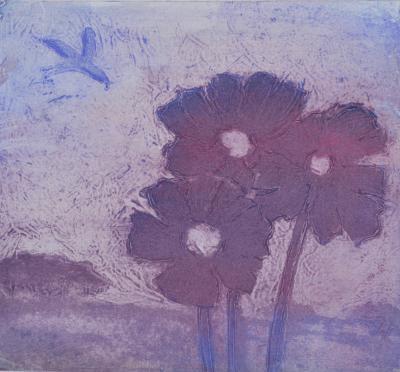 Ian Laurie Purple Poppies