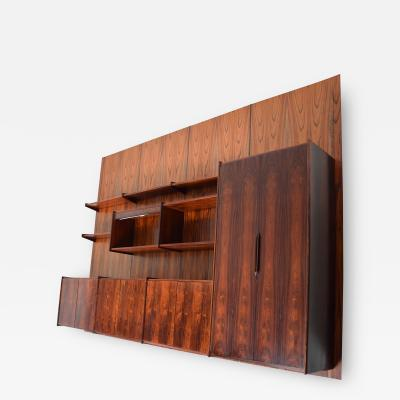Ib Juul Christensen Exotic Brazilian Rosewood Wall Unit Four Panel Pega by Juul Christensen Norway