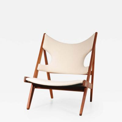 Ib Kofod Larsen 1950s Knitting Chair by Ib Kofod Larsen for Christensen Larsen Denmark