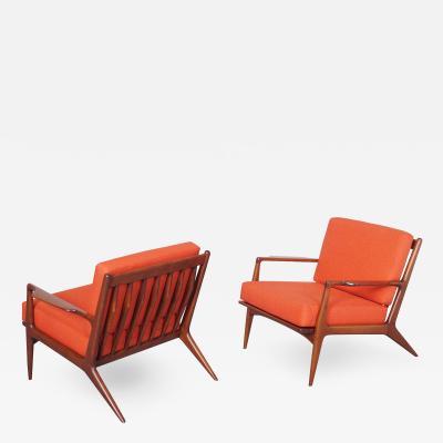 Ib Kofod Larsen Danish Lounge Chairs by Ib Kofod Larsen