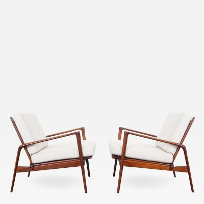 Ib Kofod Larsen Danish Modern Lounge Chairs by Ib Kofod Larsen