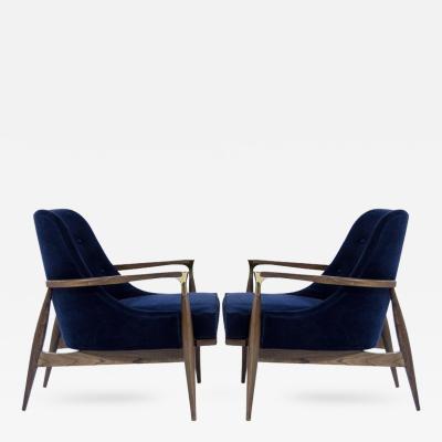 Ib Kofod Larsen Danish Modern Lounge Chairs in the Style of Ib Kofod Larsen